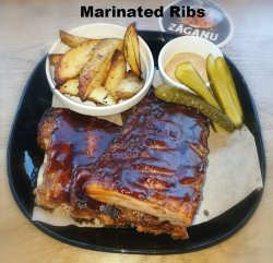 Marinated Ribs with BBQ sauce  image