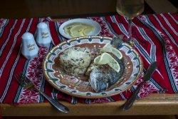 Doradă la grătar cu orez sălbatic, parmesan și lămâie/Grilled bream with wild rice, parmesan and lemon image