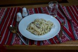 Paste cu pui și ciuperci/ Pasta with chicken and mushrooms image