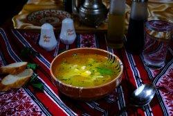 Supă de pui cu tăiței/Chicken soup with noodles image