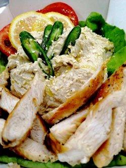 Salată de humus cu pui