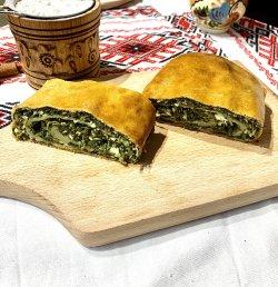 Plăcintă cu brânză și spanac image