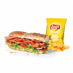 Picant Italian + chips (15 cm) image