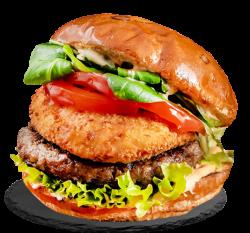Cow&chicken burger image