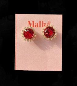 Red Crown Shape Earings image