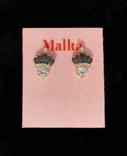 Black & White Crown Earings image