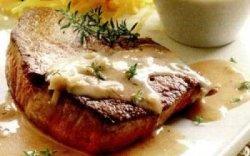 Mușchi de vită în sos gorgonzola image