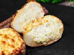 Cartofi copți umpluți cu brânză image