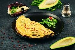 Omletăvegetariană&chiflă image