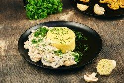 Pui cu ciuperci, sos alb și mămăliguță image
