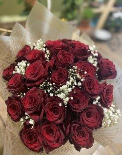 Buchet trandafiri roșii