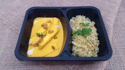 Piept de pui cu sos curry tropical și bulgur aromatizat  image