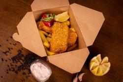 Fish & chips cu sos tartar image