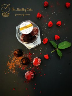 CarobMint & Raspberries Truffles image