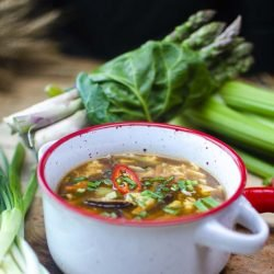 North east asian hot & sour soup image