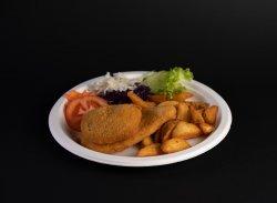 Cordon bleu cu cartofi aurii image