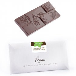 Tabletă de ciocolată crudă cu zahăr de cocos (77-00) image