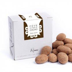 Boabe de cacao învelite în ciocolată crudă fără zahăr image