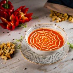Supa crema de ardei copt cu branza de capra 350g image