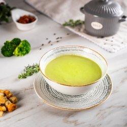 Supa crema de broccoli cu fulgi de migdale 350g image