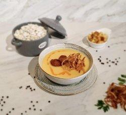Supă cremă de fasole cu cârnat și ceapă crocantă 350g image