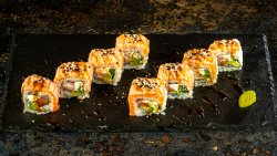 Flamed Salmon Roll image