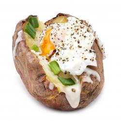 Cartof copt cu ou poșat- Bucătărie aromată king size image