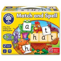 Joc educativ în limba engleză - Potrivește și Formează Cuvinte - Match and Spell - Orchard Toys