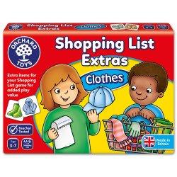Joc educativ în limba engleză - Listă de cumpărături Haine - Orchard Toys