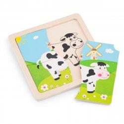 Mini Puzzle Văcuță - New Classic Toys