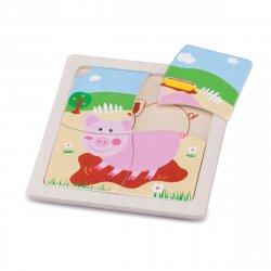 Mini Puzzle Purceluș - New Classic Toys