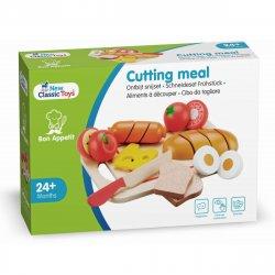 Platou cu diferite alimente - Cutting Meal - New Classic Toys