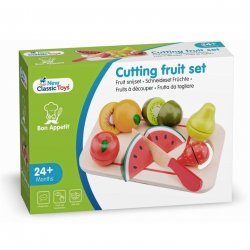 Platou cu fructe - Cutting Fruit Set - New Classic Toys