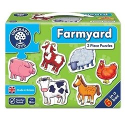 Set 6 puzzle - Ferma (2 piese) - Farmyard - Orchard Toys