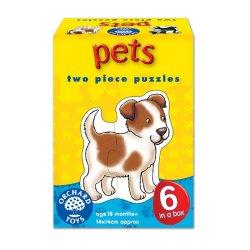 Set 6 puzzle - Animale de companie (2 piese) - Pets - Orchard Toys