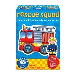 Set 6 puzzle - Echipa de salvare (2 și 3 piese)- Rescue Squad - Orchard Toys