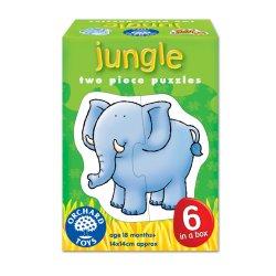 Set 6 puzzle Junglă (2 piese) - Jungle - Orchard Toys