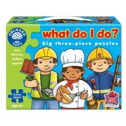 Set mai multe puzzle Meserii (3 piese) - What do I do? - Orchard Toys