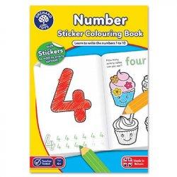 Carte de colorat - Învață numerele - Orchard Toys