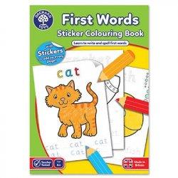 Carte de colorat - Primele cuvinte - First words - Orchard Toys
