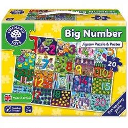 Puzzle în limba engleză - Învață numerele de la 1 la 20 - Orchard Toys