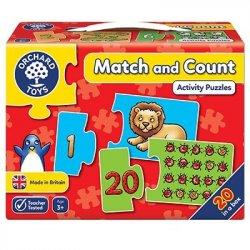 Puzzle în engleză - Match and Count - Orchard Toys