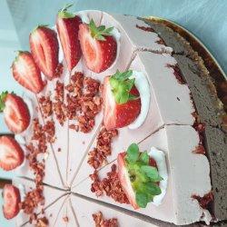 Tort cu ciocolată și căpșuni image