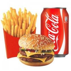 Meniu Dublu cheeseburger pui