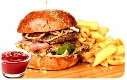 Meniu Burger gurmand Torro + cartofi prăjiți + sos image