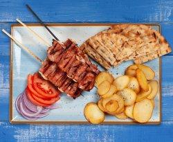 Souvlaki pui cu bacon image