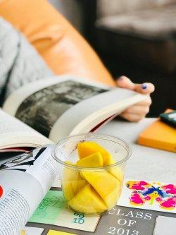 Fresh cut mango image