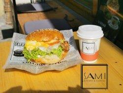 Meniu breakfast bagel și cafea image