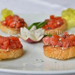 Bruschette pomodoro basilico