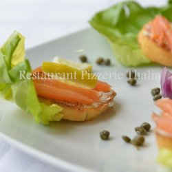 Bruschette salmone
